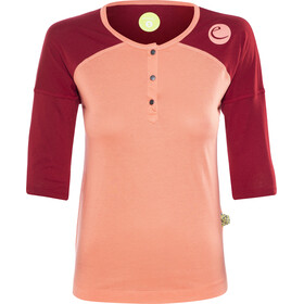 Edelrid Highball - T-shirt manches longues Femme - orange/rouge